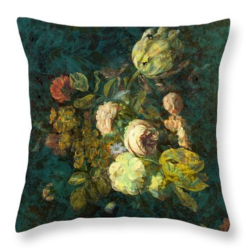 Classical Bouquet - S04bt01 Throw Pillow by Variance Collections