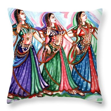 Classical Dance1 Throw Pillow by Harsh Malik