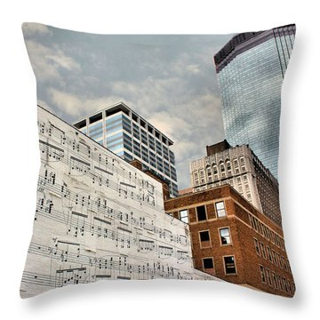 Classical Graffiti Throw Pillow by Kristin Elmquist