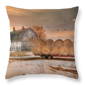 Clayton Sunset Throw Pillow by Lori Deiter