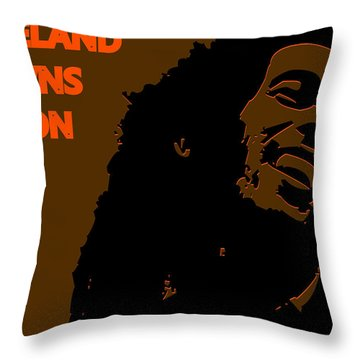 Cleveland Browns Ya Mon Throw Pillow by Joe Hamilton