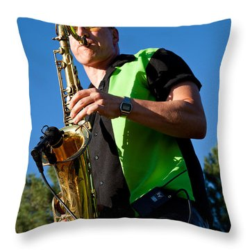 Cliff Miller Of The Fabulous Kingpins Throw Pillow by David Patterson