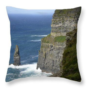 Cliffs Of Moher 7 Throw Pillow by Mike McGlothlen