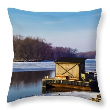 Closed For The Season Throw Pillow by Christi Kraft