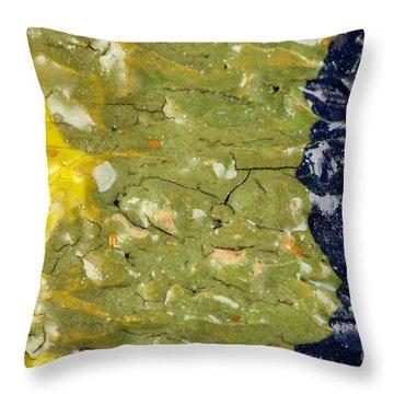 Closeup Of Glazed Ceramics Throw Pillow by Kerstin Ivarsson