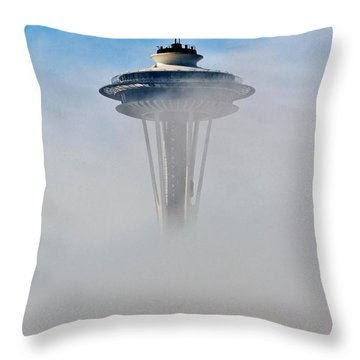 Cloud City Needle Throw Pillow by Benjamin Yeager