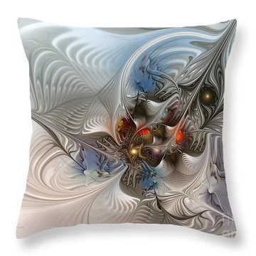 Cloud Cuckoo Land-fractal Art Throw Pillow by Karin Kuhlmann