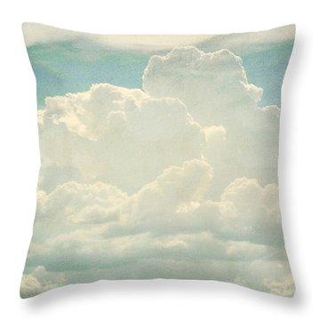 Cloud Series 2 Of 6 Throw Pillow by Brett Pfister