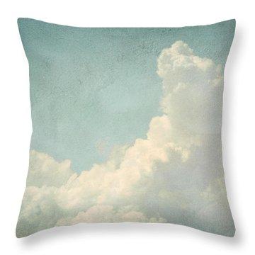 Cloud Series 4 Of 6 Throw Pillow by Brett Pfister