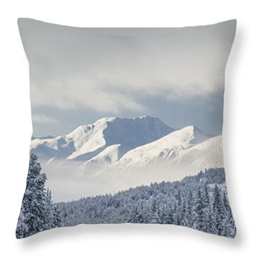 Clouds Clearing From The Kenai Throw Pillow by Kevin Smith