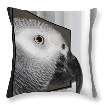 Clyde Oob Throw Pillow by EricaMaxine  Price