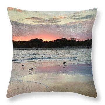 Coastal Beauty Throw Pillow by Betty LaRue
