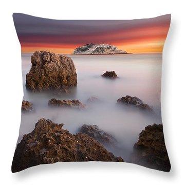 Coastal Glory Throw Pillow by Jorge Maia