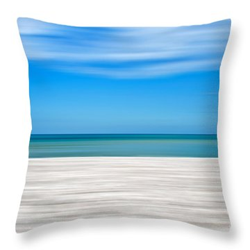 Coastal Horizon 10 Throw Pillow by Delphimages Photo Creations