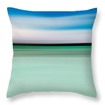 Coastal Horizon 5 Throw Pillow by Delphimages Photo Creations