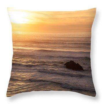 Coastal Rhythm Throw Pillow by Mike Reid