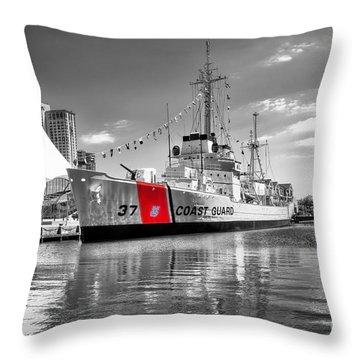 Coastguard Cutter Throw Pillow by Scott Hansen