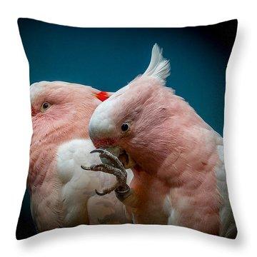 Cockatoos Throw Pillow by Ernie Echols