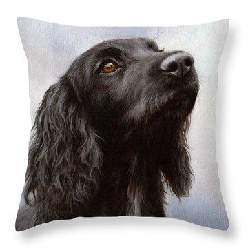 Cocker Spaniel Painting Throw Pillow by Rachel Stribbling