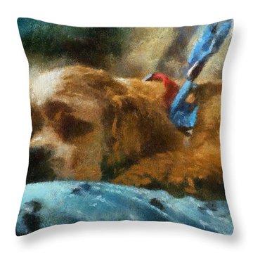 Cocker Spaniel Photo Art 07 Throw Pillow by Thomas Woolworth