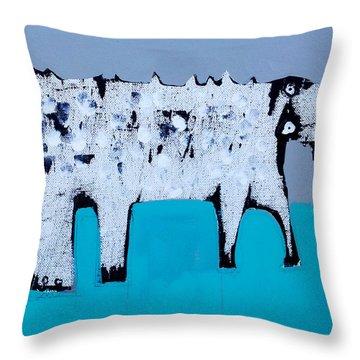Cocodrillus Throw Pillow by Mark M  Mellon