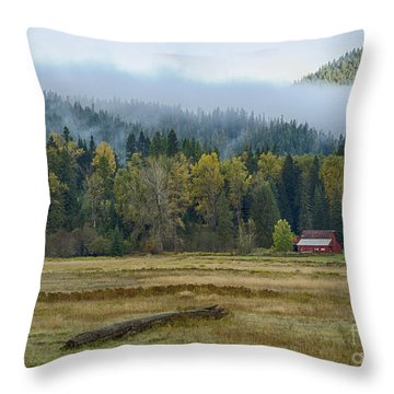 Coeur D Alene River Farm Throw Pillow by Idaho Scenic Images Linda Lantzy
