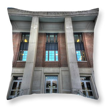 Coffman Memorial Union Throw Pillow by Amanda Stadther
