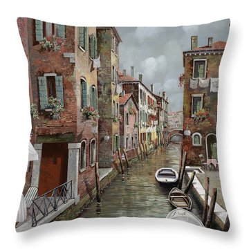 colazione a Venezia Throw Pillow by Guido Borelli