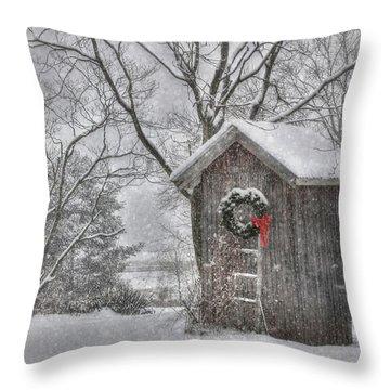 Cold Seat Throw Pillow by Lori Deiter