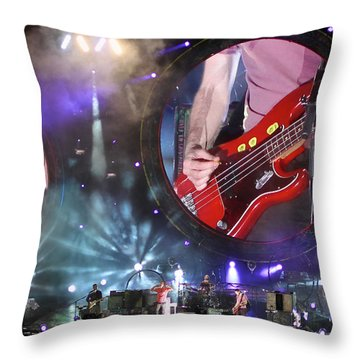Coldplay - Sydney 2012 Throw Pillow by Chris Cousins