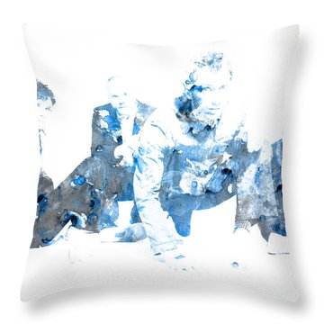 Coldplay Throw Pillow by Brian Reaves