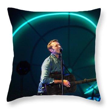 Coldplay Throw Pillow by Rafa Rivas