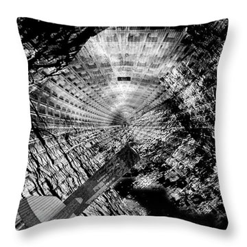 Collapsed Throw Pillow by Jack Zulli