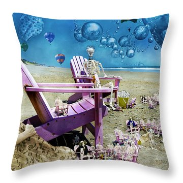 Collective Souls Throw Pillow by Betsy Knapp