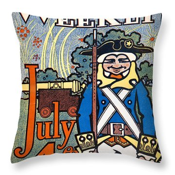 Colliers Cover, 1900 Throw Pillow by Granger