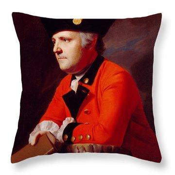 Colonel John Montresor Throw Pillow by John Singleton Copley