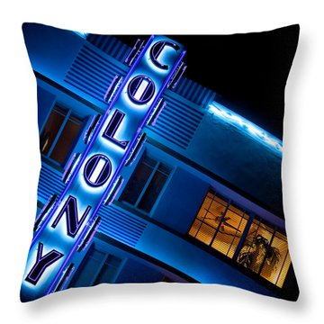 Colony Hotel 1 Throw Pillow by Dave Bowman