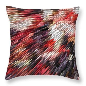 Color Explosion #02 Throw Pillow by Ausra Huntington nee Paulauskaite