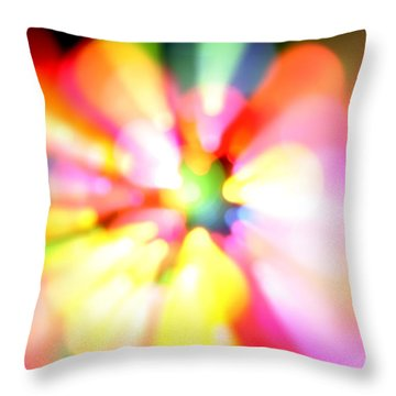 Color Explosion Throw Pillow by Les Cunliffe