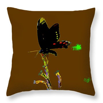 Color Me Pretty Throw Pillow by Kim Pate