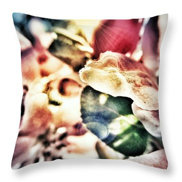 Color Me Pretty... Throw Pillow by Marianna Mills
