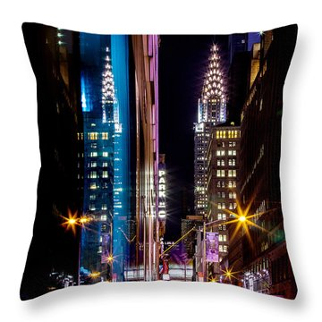 Color Of Manhattan Throw Pillow by Az Jackson