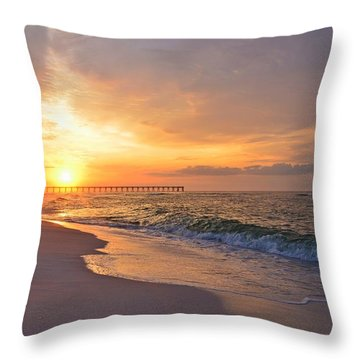 Color Palette Of God On The Beach Throw Pillow by Jeff at JSJ Photography