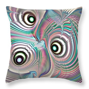 Color Waves Throw Pillow by Anastasiya Malakhova