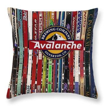 Colorado Logos Throw Pillow by Janice Rae Pariza