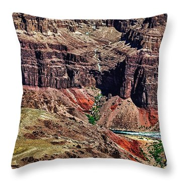 Colorado River In The Grand Canyon High Water Throw Pillow by Bob and Nadine Johnston