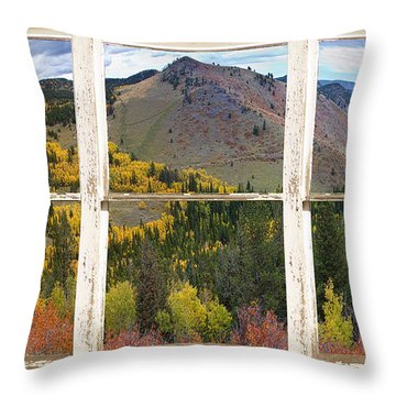Colorful Colorado Rustic Window View Throw Pillow by James BO  Insogna