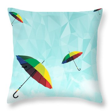 Colorful Day Throw Pillow by Mark Ashkenazi