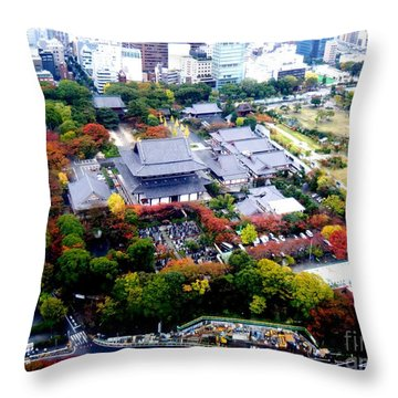 Colorful  Tokyo Throw Pillow by Nelly Bacskay