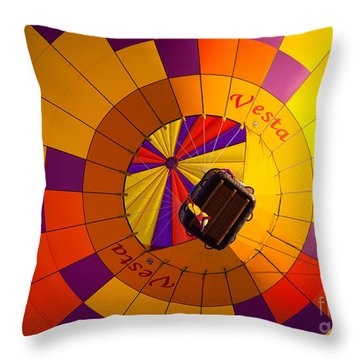 Colorful Underbelly Throw Pillow by Inge Johnsson